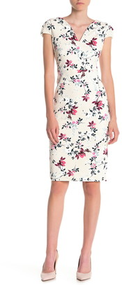 Maggy London Floral Sweetheart Sheath Dress