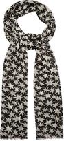 Saint Laurent Star-print wool scarf