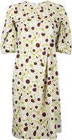 Marni draped daisy print dress - women - Viscose - 36