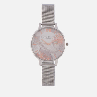 Olivia Burton Women's Abstract Florals Watch - Silver