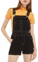 Topshop Women's Contrast Stitch Short Overalls