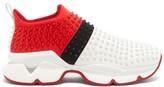 Christian Louboutin Spike-embellished Neoprene Sock Trainers - Mens - Multi