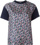 Moncler printed panel T-shirt - women - Silk/Cotton - XS