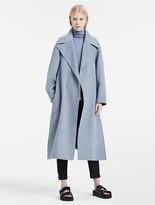 Calvin Klein Platinum Lightweight Wool Cashmere Coat