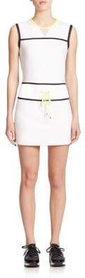 Monreal London Sleeveless Mesh-Detail Mini Dress