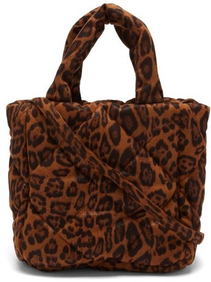 Stand Studio Rosanne Mini Leopard-print Quilted Tote Bag - Leopard