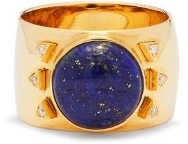Mukhi Sisters - Diamond, Lapis Lazuli & 18kt Gold Ring - Blue Gold