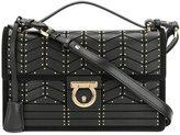 Salvatore Ferragamo studded Gancio lock shoulder bag - women - Calf Leather - One Size