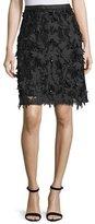 Escada Mid-Length Embellished Skirt, Black