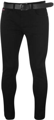 Lee Cooper Belted Skinny Jeans Mens