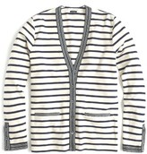 J.Crew Women's Metallic Trim Stripe Cardigan