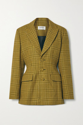 GAUCHERE Rachel Prince Of Wales Checked Wool Blazer - Mustard