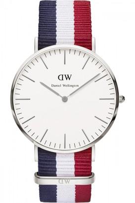 Daniel Wellington Mens Cambridge Silver 40mm Watch DW00100017