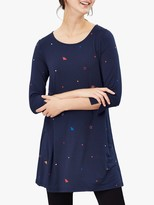 Joules Hayden Neck Tunic Top, Navy Bee