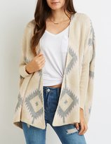Charlotte Russe Aztec Dropped Shoulder Cardigan