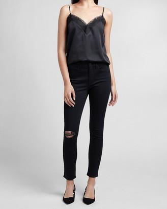 Express Mid Rise Black Skinny Jeans