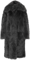 Tom Ford Shearling Coat - Dark gray