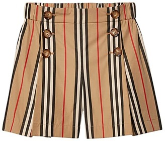 BURBERRY KIDS Tamara Shorts (Little Kids/Big Kids) (Archive Beige IP Stripe) Girl's Clothing