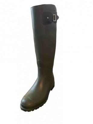 Saint Laurent Khaki Rubber Boots