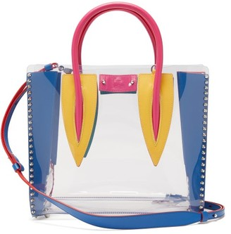 Christian Louboutin Paloma Medium Pvc And Leather Tote Bag - Clear Multi