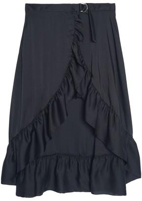 Sandro Paris Ruffled High-Low Skirt