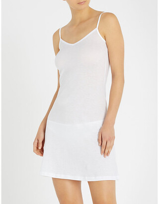 Hanro White Ultra-Light Body Dress, Size: XS