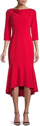 Calvin Klein Ruffled High-Low Dress