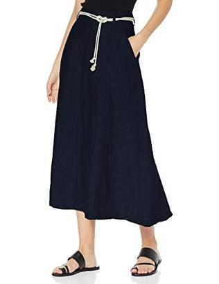 Brax Women's Kelly Linen Leinenrock Uni Mit Bindegürtel Skirt