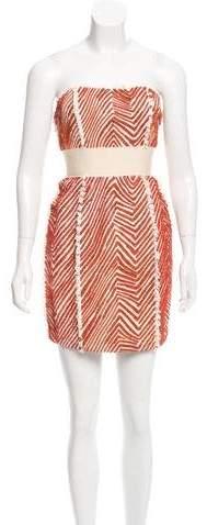 Adam Silk Embellished Dress w/ Tags