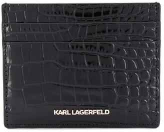 Karl Lagerfeld Paris K Seven croc-embossed cardholder