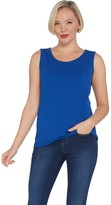 Bob Mackie Essentials Sleeveless Scoop-Neck Knit Top