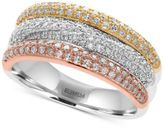 Effy Diamond (5/8 ct t.w.) Three-Row Ring in 14k Tri-Color Gold