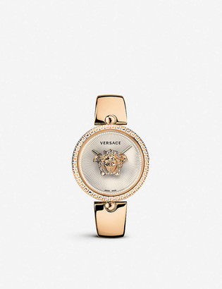 Versace 675000 Palazzo Empire rose gold-plated stainless steel quartz watch
