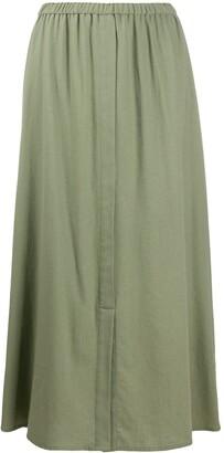 Alysi Elasticated-Waist Midi Skirt