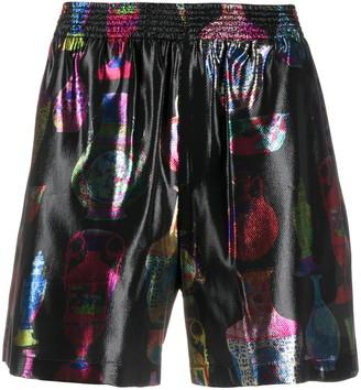 Versace elasticated waist graphic shorts