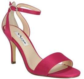 Nina Venetia Satin Ankle-Strap Sandals