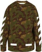 Off-White Camouflage-print cotton sweatshirt