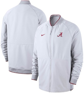 Nike Men's White Alabama Crimson Tide 2019 Sideline Performance Full-Zip Jacket