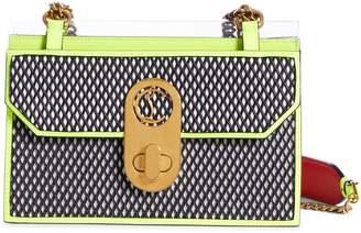 Christian Louboutin Small Elisa Leather & PVC Shoulder Bag