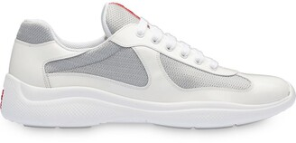 Prada white Americas cup patent leather sneakers