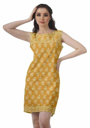 Moomaya Summer Shift Dress Sleeveless Short Tunic Basic Dresses for Women