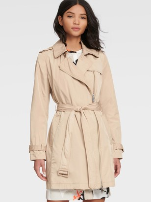 DKNY Cropped Trench Coat