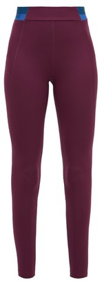 LNDR Spar Logo-jacquard High-rise Leggings - Womens - Burgundy