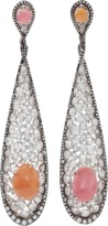 Arunashi Conch Pearl And Diamond Earrings