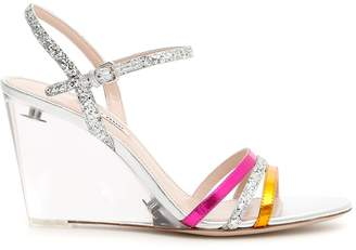 Miu Miu Plexi Wedge Sandals
