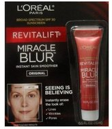 L'Oreal Revitalift Miracle Blur Instant Skin Smoother Finishing Cream with Broad Spectrum SPF 30 Sunscreen .5 Oz (15 mL)