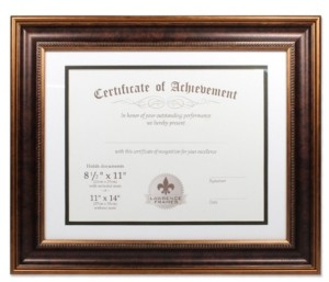 """Lawrence Frames Dual Use Bronze Beaded Document Frame - 11"""" x 14"""""""