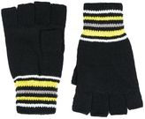Topman Blue Stripe Fingerless Gloves