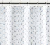 Pottery Barn Anchor Print Shower Curtain