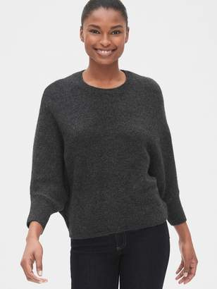 Gap Three-Quarter Dolman Sleeve Crewneck Sweater